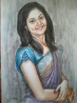 potrait of my friend - (color pencils)