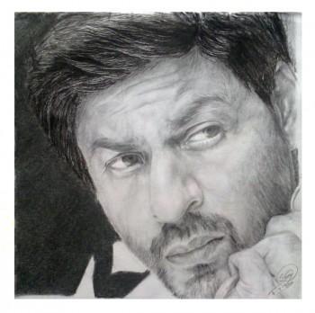 Shahrukh Khan Portrait - Sketching   Shwetabh Suman   Touchtalent