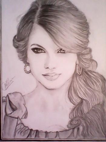 Taylor Swift - Sketching | Aboli Khillare | Touchtalent