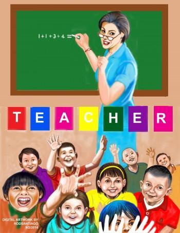 Teacher - Digital Art | Rod Santiago | Touchtalent