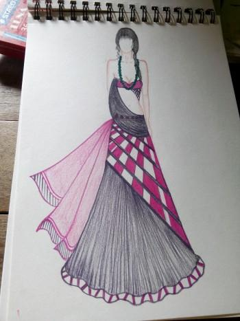 Pics For > Indian Fashion Dresses Sketches