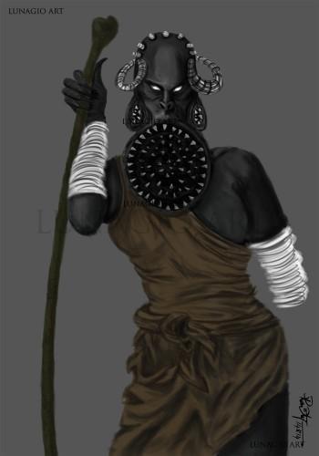 Tribal Alien Character Design - Sketching   Raviteja Narla   Touchtalent
