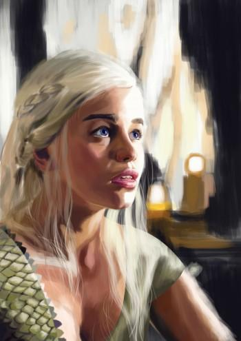 (unfinished) Daenerys Of Game Of Thrones - Digital Art | Rey Xerxes Dizon | Touchtalent